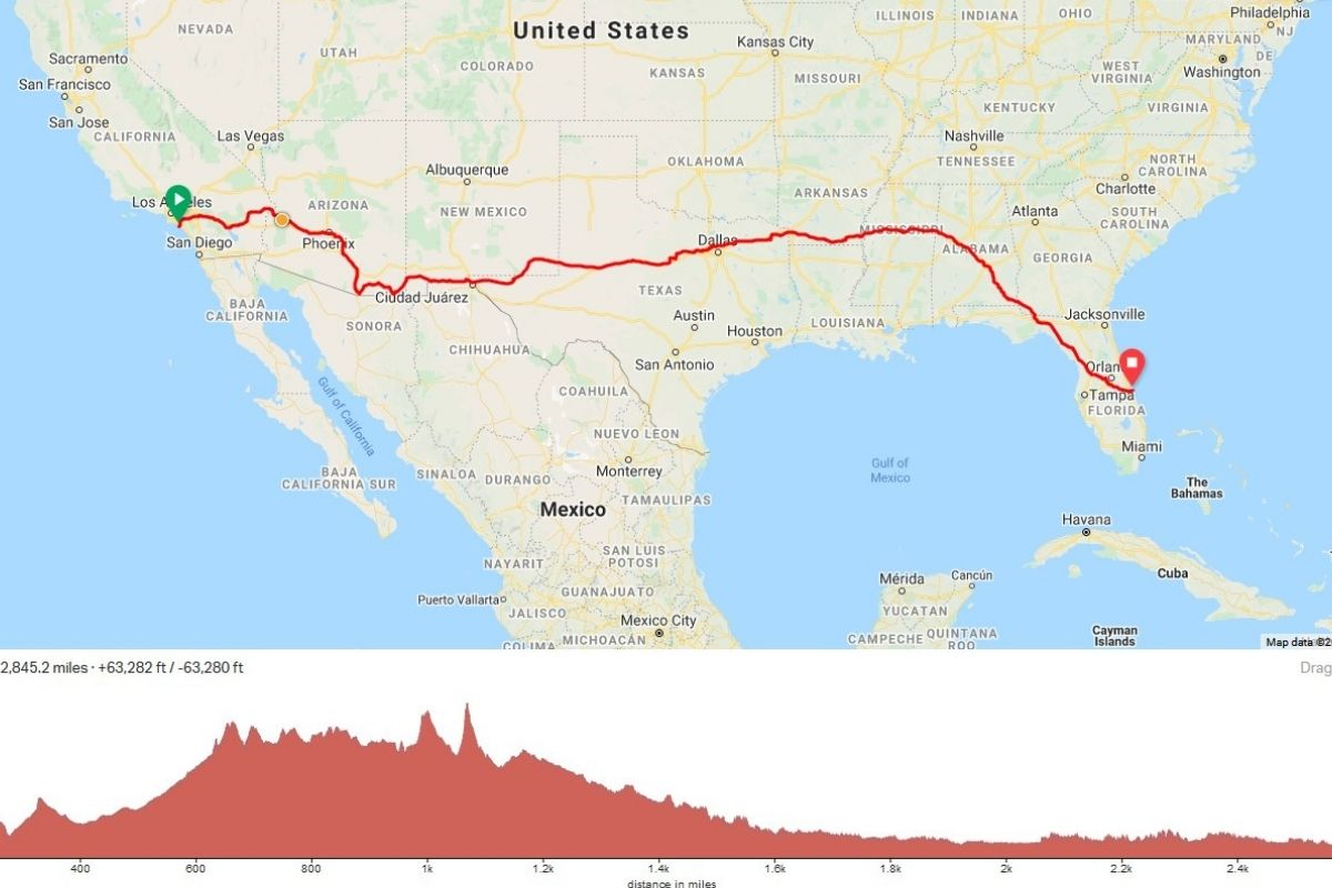 Don Muchow Run Across America Road Trip from California to Florida